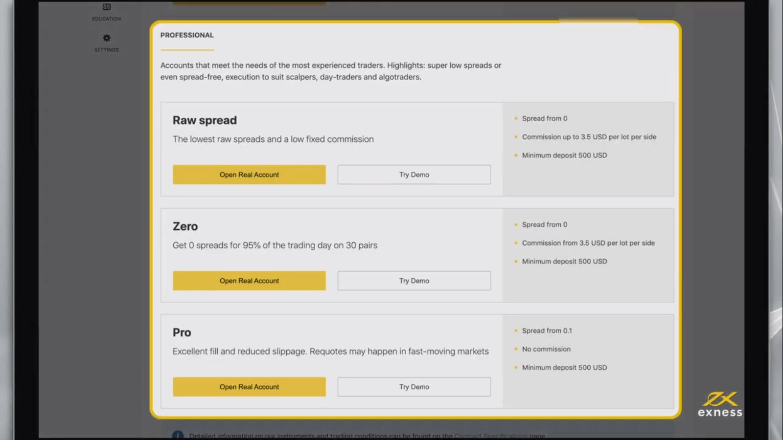 Exness میں ٹریڈنگ اکاؤنٹ کو رجسٹر اور کھولنے کا طریقہ